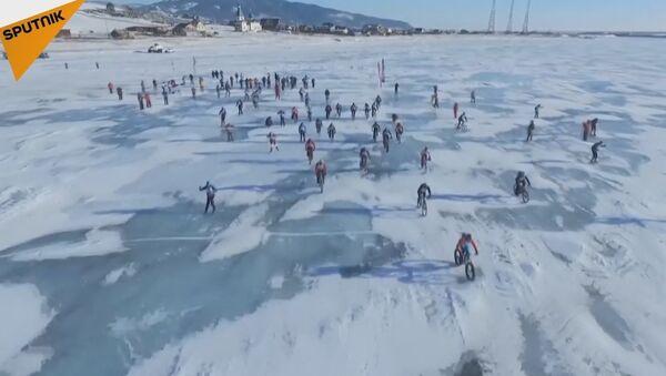 The Ice Storm Race on Lake Baikal - Sputnik International