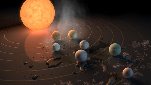 Abstract Concept of TRAPPIST-1 System - Sputnik International