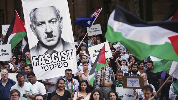 Sydney protests against Israeli Prime Minister Benjamin Netanyahu - Sputnik International