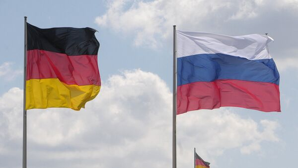 Flags of Germany and Russia. (File) - Sputnik International