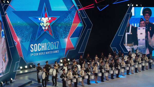 The Alexandrov Academic Ensemble of Song and Dance of the Russian Army performs at the opening ceremony of the 3rd CISM World Military Winter Games - Sputnik International