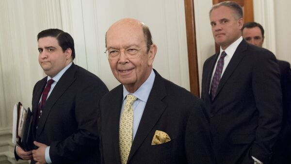 Wilbur Ross, nominee for Secretary of Commerce, arrives for a meeting with US President Donald Trump and manufacturing CEOs in the State Dining Room at the White House in Washington, DC - Sputnik International