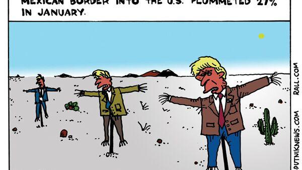 Trump Scarecrows - Sputnik International