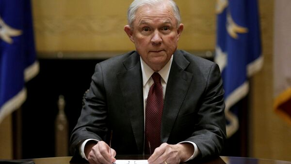U.S. Attorney General Jeff Sessions holds his first meeting with heads of federal law enforcement components at the Justice Department. in Washington U.S., February 9, 2017 - Sputnik International