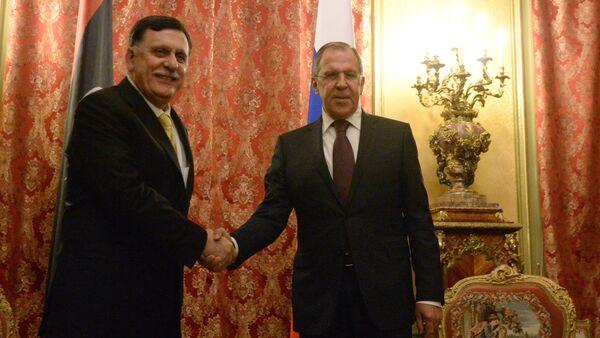 Russian Foreign Minister Sergei Lavrov meets with Libyan Prime Minister Fayez al-Saraj - Sputnik International