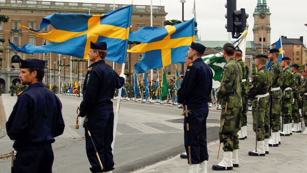 Swedish armed forces soldiers attend a rehearsal in front of the Royal Palace in Stockholm, Sweden (File) - Sputnik International