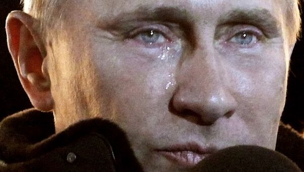 FILE - In this Sunday, March 4, 2012 file photo, Russian Prime Minister Vladimir Putin, who claimed victory in Russia's presidential election, tears up as he reacts at a massive rally of his supporters at Manezh square outside Kremlin, in Moscow. - Sputnik International