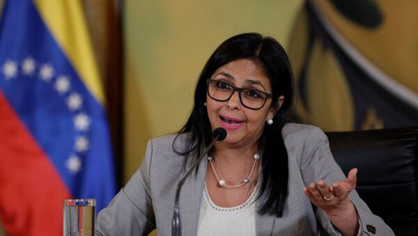 Venezuela's Foreign Minister Delcy Rodriguez talks to the media during a news conference in Caracas, Venezuela February 15, 2017. - Sputnik International