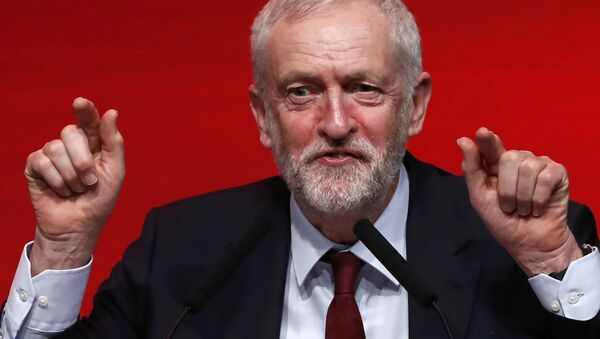 The leader of Britain's opposition Labour Party, Jeremy Corbyn, speaks at the Scottish Labour Party Spring Conference in Perth, Scotland February 26, 2017. - Sputnik International