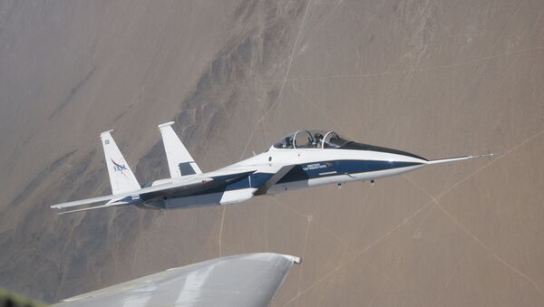 NASA's F-15 research test bed will expose the Swept Wing Laminar Flow test article to speeds up to Mach 2, matching conditions presented during wind tunnel testing at NASA's Langley Research Center. - Sputnik International