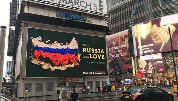 International Women's Day, Times Square. New York - Sputnik International