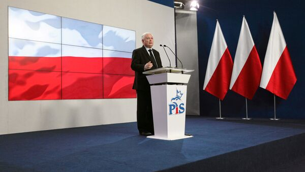 Jaroslaw Kaczynski, leader of Law and Justice (PiS) speaks during news conference in Warsaw, February 28, 2017. - Sputnik International