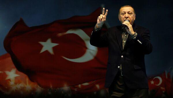 Turkish President Tayyip Erdogan makes a speech during a Women's Day rally in Istanbul, Turkey, March 5, 2017 - Sputnik International