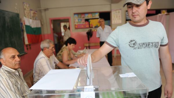 A Bulgarian man casts his vote during the Bulgarian general elections at a polling station in istanbul (File) - Sputnik International