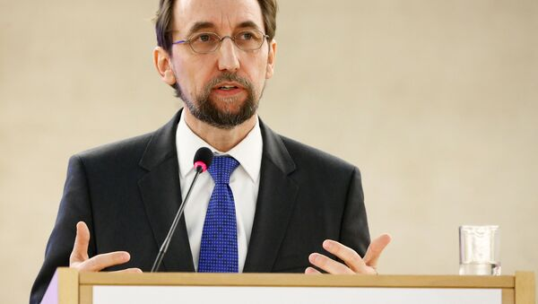 Zeid Ra'ad Al Hussein, U.N. High Commissioner for Human Rights attends the 34th session of the Human Rights Council at the European headquarters of the United Nations in Geneva, Switzerland, February 27, 2017 - Sputnik International