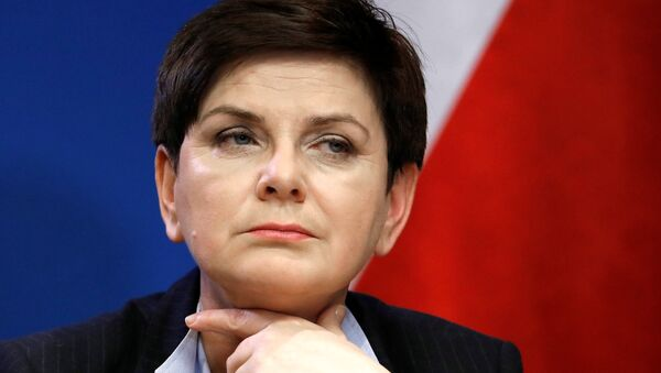 Poland's Prime Minister Beata Szydlo holds a news conference at the end of a European Union leaders summit in Brussels, Belgium, March 10, 2017. - Sputnik International