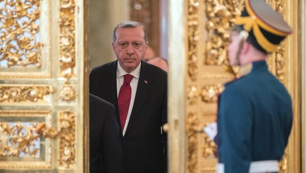 March 10, 2017. Turkish President Recep Tayyip Erdogan prior to the sixth meeting of the Russia-Turkey High-Level Cooperation Council. - Sputnik International