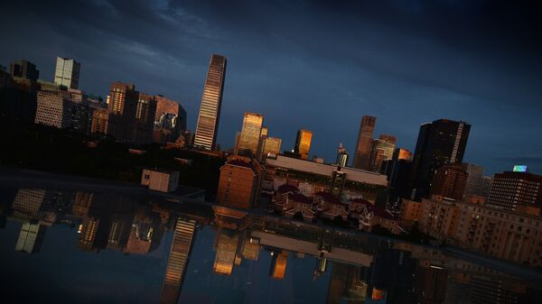 View of the Central Business District at sunset in Beijing - Sputnik International