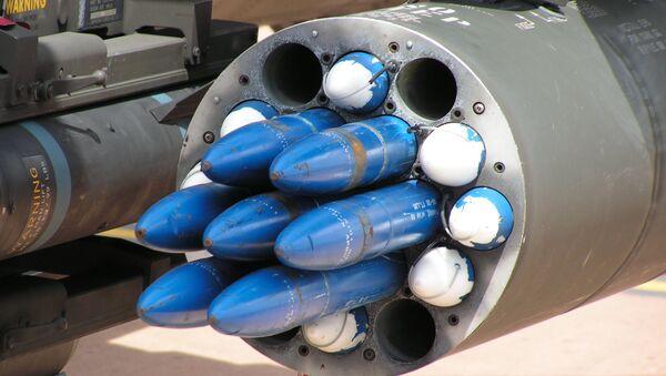 Hydra 70 rockets in an M261 launch pod on a AH-64 Apache. (File) - Sputnik International