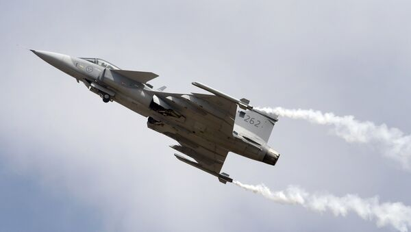 Gripen, a Swedish fighter aircraft performs at the opening ceremony of Aero India 2017 at Yelahanka air base in Bangalore, India, Tuesday, Feb. 14, 2017 - Sputnik International