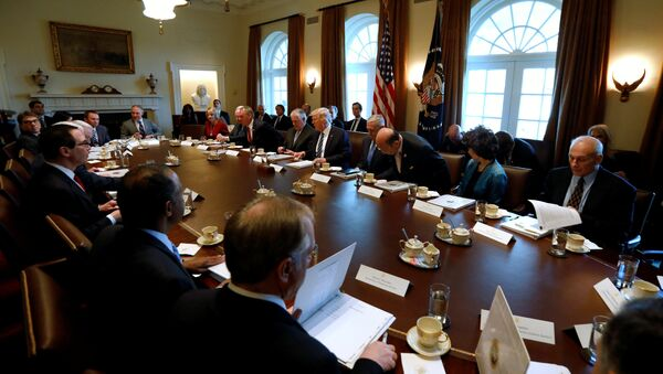 US President Donald Trump (5th R) holds a meeting with his cabinet at the White House in Washington, U.S. March 13, 2017 - Sputnik International