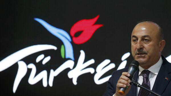 Turkish Foreign Minister Mevlut Cavusoglu at the International Tourism Trade Fair ITB in Berlin, Germany, March 8, 2017. - Sputnik International