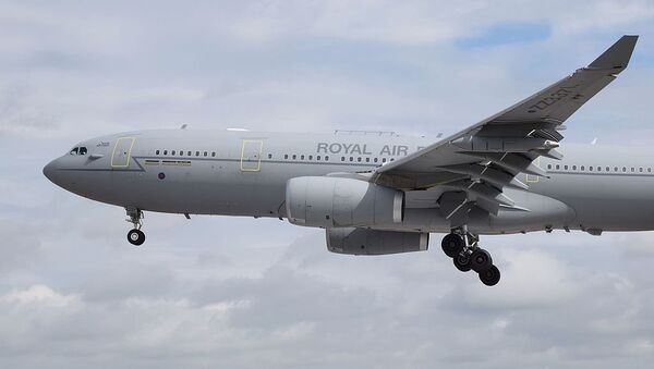 Airbus Voyager KC2 (ZZ337) of the Royal Air Force arrives at the 2016 Royal International Air Tattoo, RAF Fairford, England. - Sputnik International