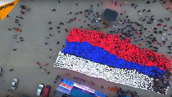 Students Form a Russian Flag in Crimea - Sputnik International