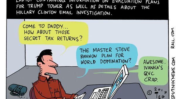 Secret Service Laptop Cartoon - Sputnik International