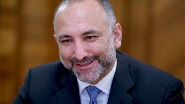 Afghanistan President's national security advisor Hanif Atmar during a meeting with Russian Foreign Minister Sergei Lavrov at the Russian Foreign Ministry's Reception House - Sputnik International