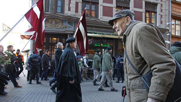 Waffen-SS veterans march in Riga - Sputnik International