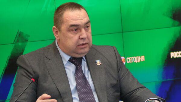 Leader of the LPR Igor Plotnitsky at a press conference in multimedia press center MIA Rossiya Segodnya in Simferopol - Sputnik International