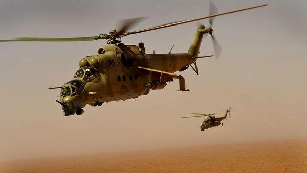 Afghan Air Corps Mi-35 helicopters - Sputnik International