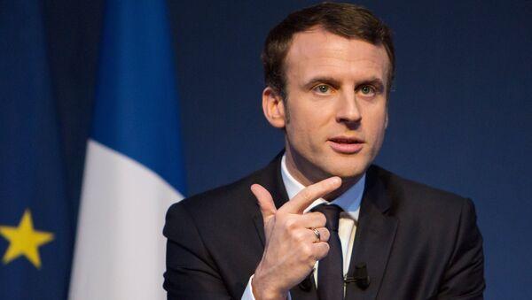 French presidential candidate Emmanuel Macron presents his program - Sputnik International