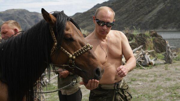 Russian PM Vladimir Putin on vacation in Tyva Republic - Sputnik International