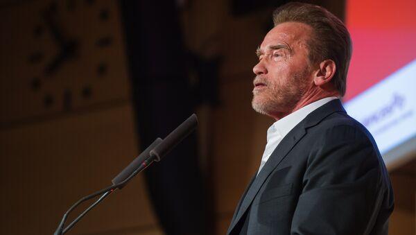 Former U.S. California Gov. Arnold Schwarzenegger delivers a speech at the Institute of Political Studies in Paris, France - Sputnik International