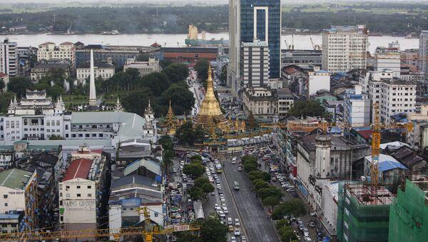 View of downtown Yangon, Myanmar September 23, 2015. - Sputnik International
