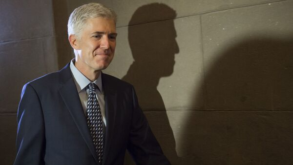 Supreme Court nominee Judge Neil Gorsuch arrives for a meeting at the US Capitol in Washington, DC - Sputnik International