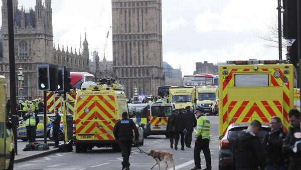 Emergency services respond after an incident on Westminster Bridge in London, Britain - Sputnik International