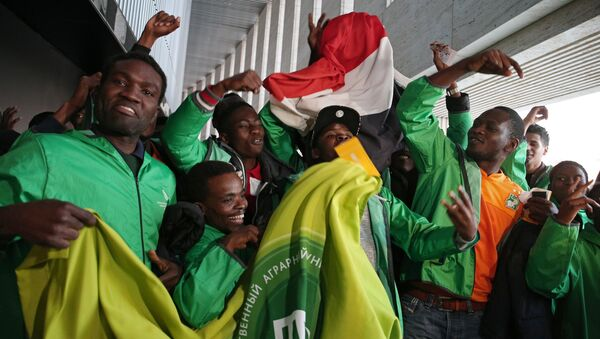 Fans at the friendly match between Russia and Cote d'Ivoire - Sputnik International