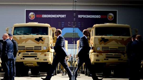 The stand of JSC Rosoboronexport during the international military-technical forum ARMY-2016 - Sputnik International
