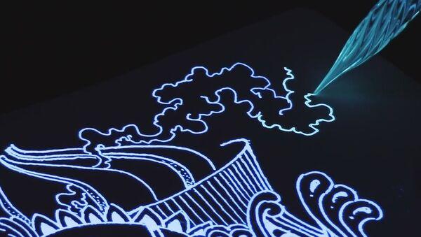 Glow Ink + Glass Pen Drawing! - Sputnik International