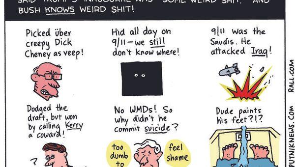 George Bush Weird Shit Cartoon - Sputnik International