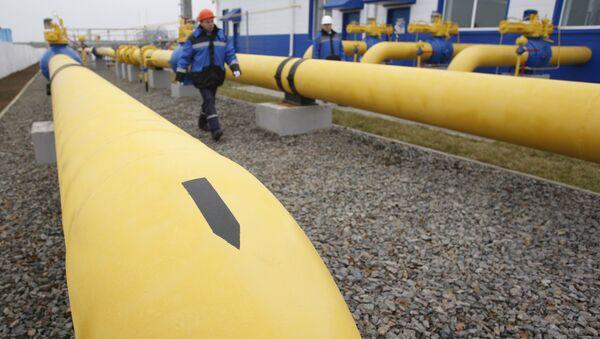 On the territory of the JSC Gazprom's gas distribution station Zapadnaya opened after reconstruction near the village of Atolino (Minsk District). (File) - Sputnik International