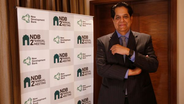 K. V. Kamath, President of New Development Bank, poses for a picture before start of an interview with Reuters, in New Delhi, India, March 30, 2017 - Sputnik International