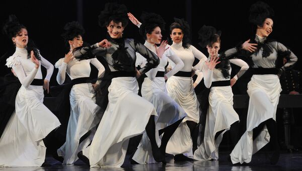 A scene from play Anna Karenina staged by Anzhelika Kholina at Vakhtangov Theater - Sputnik International