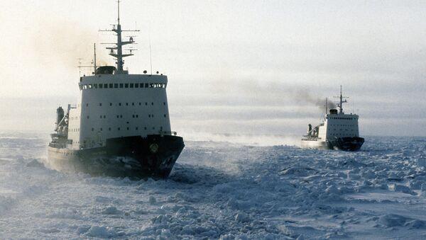 Soviet ice-breakers in the Chukchee Sea, the Arctic Ocean - Sputnik International
