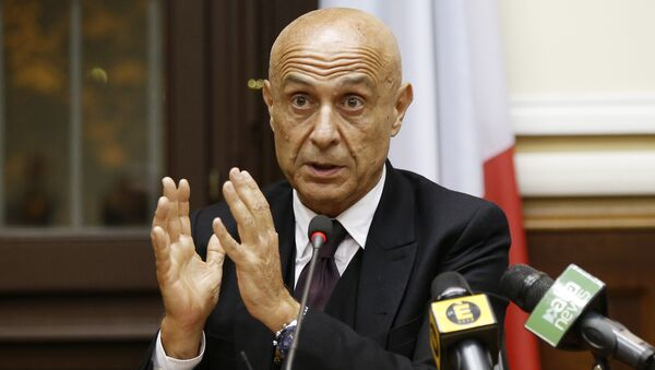 Italian Interior Minister Marco Minniti speaks during a press conference after a security meeting in Milan, Italy (File) - Sputnik International