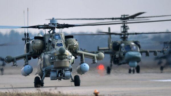 Mi-28N and Ka-52 helicopters - Sputnik International