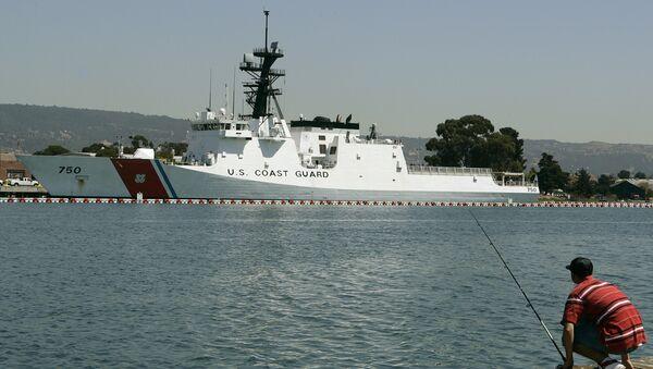 The United States Coast Guard cutter Bertholf is seen moored Wednesday, Sept. 3, 2008, in Alameda, Calif. - Sputnik International
